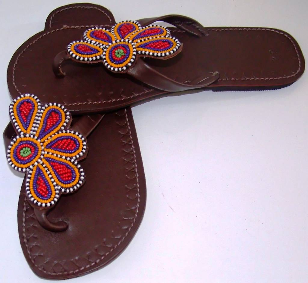 African Leather Maasai Sandals